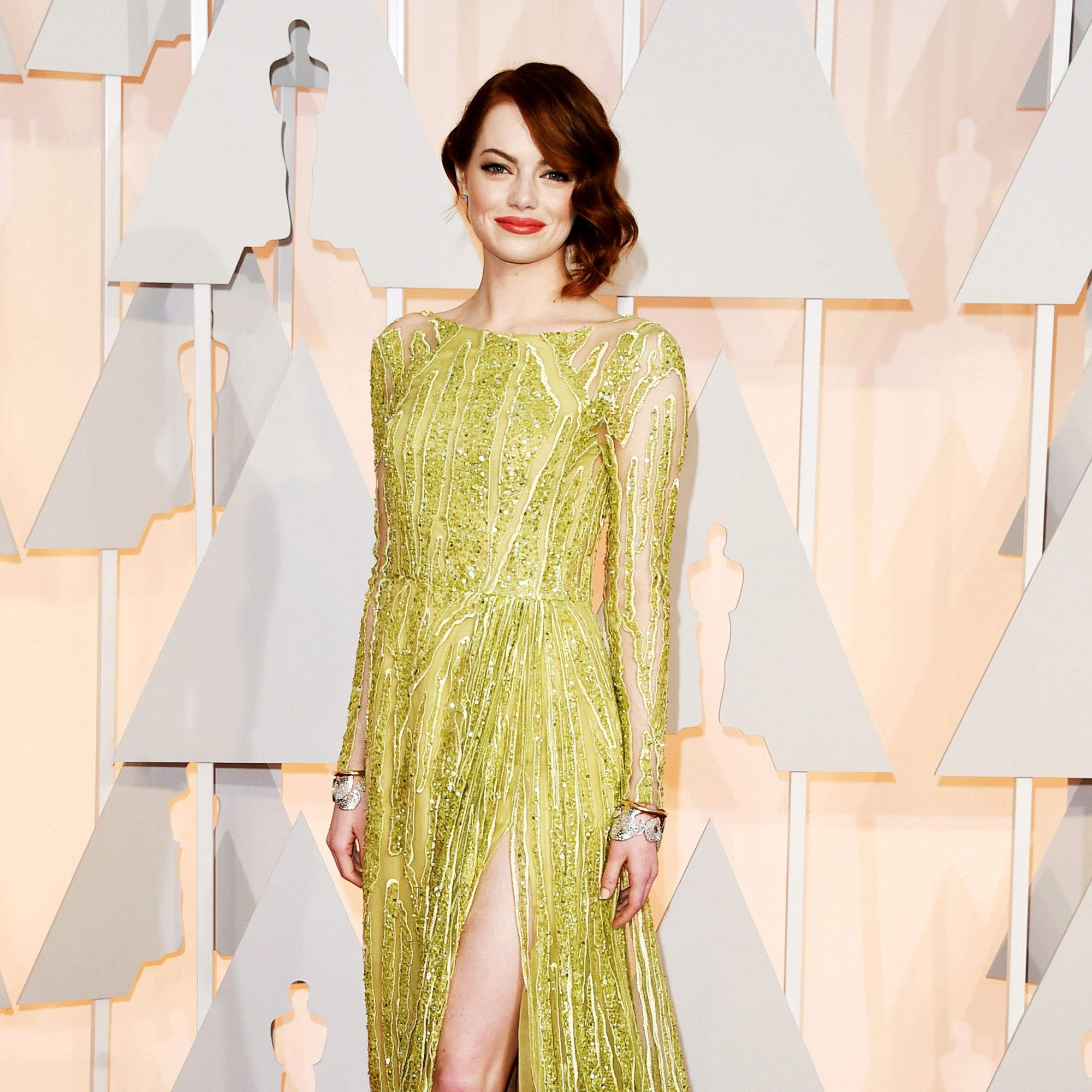 HOLLYWOOD, CA - FEBRUARY 22:  Emma Stone attends the 87th Annual Academy Awards at Hollywood &amp&#x3B; Highland Center on February 22, 2015 in Hollywood, California.  (Photo by Jason Merritt/Getty Images)