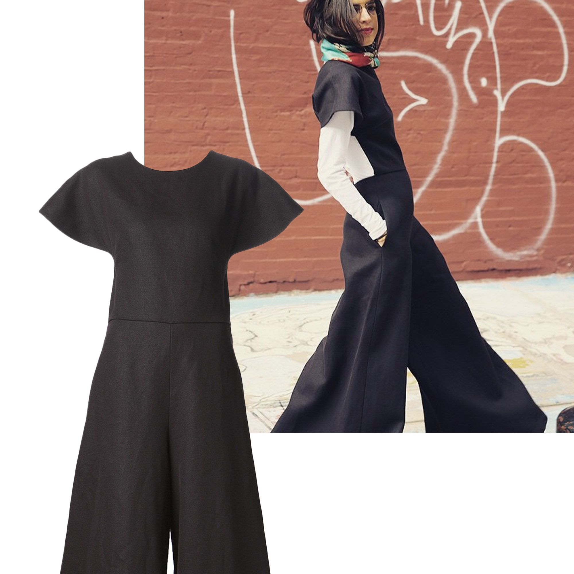 "<a href=""http://instagram.com/manrepeller/"" target=""_blank"">@manrepeller</a><em>Rosie Assoulin dress, $1,995, <a href=""http://shop.harpersbazaar.com/designers/rosie-assoulin/flared-cutout-jumpsuit/"" target=""_blank"">shopBAZAAR.com</a>.</em>"