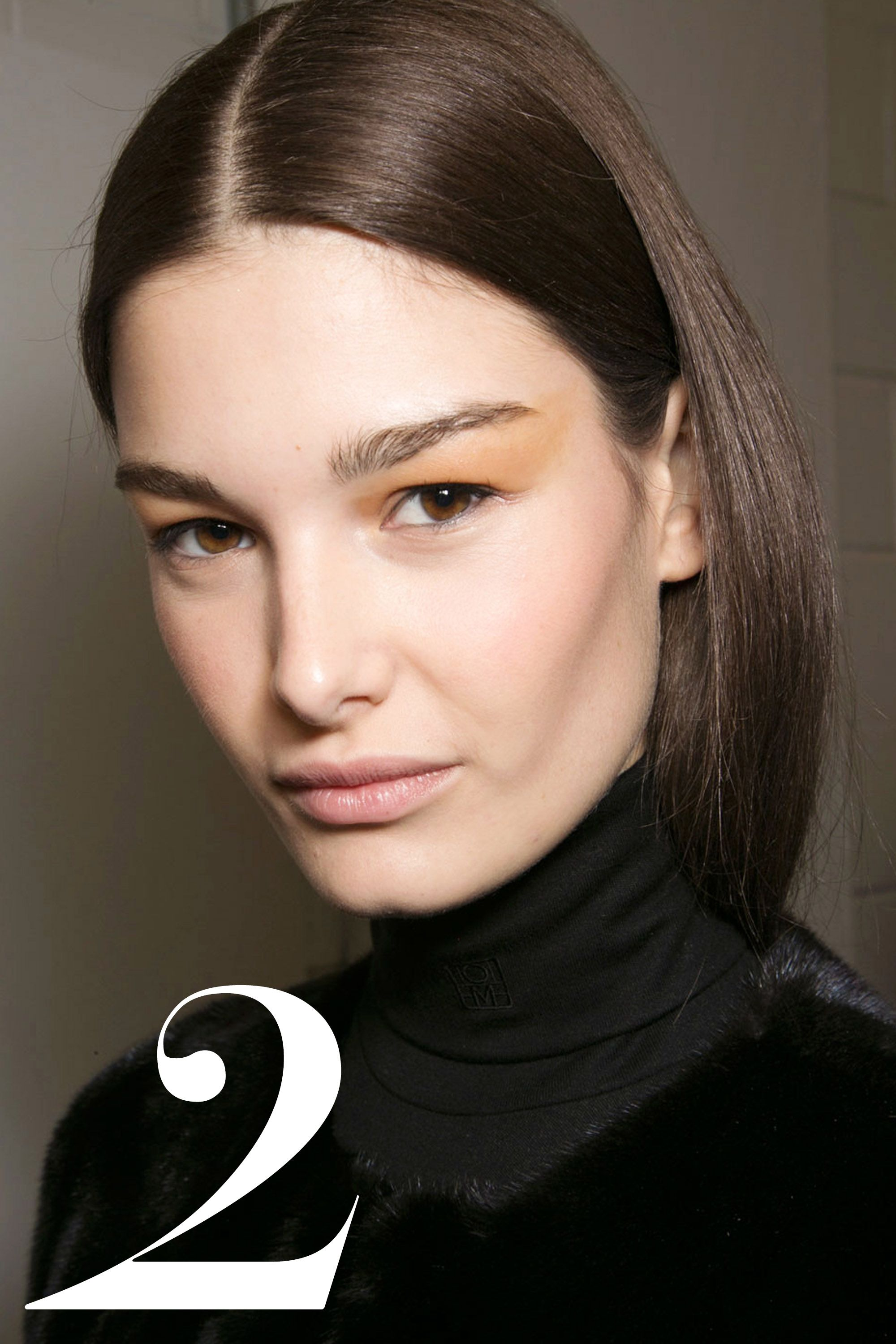 "Backstage at Prabal Gurung  <em>Get the look: <a href=""http://www.vidalsassoon.com/en-US/hair-color/salonist/30-darkestneutral-brown#/shades"" target=""_blank"">Vidal Sassoon Salonist 3/0 Darkest Neutral Brown</a></em>"