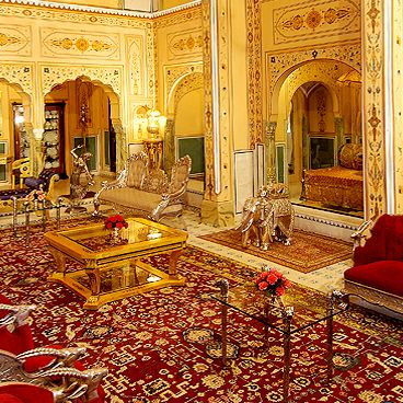 """The Shahi Mahal suite&nbsp&#x3B;at <a href=""""http://www.rajpalace.com/raj-palace-rooms-rates.html"""">The Raj Palace</a> in Jaipur, India has been under construction for 12 years, but will soon be ready for the world's richest guests.&nbsp&#x3B;The suite costs $45,000 a night, and has plenty of luxe, opulent features, including gilded walls,&nbsp&#x3B;private courtyards, a theater, a private&nbsp&#x3B;swimming pool and spa and its own staff."""