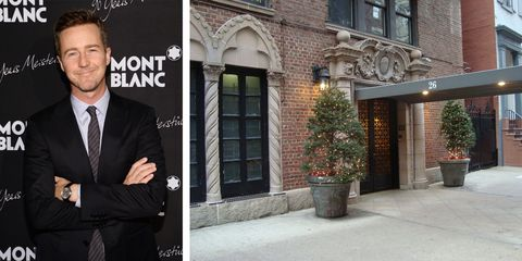 """Edward Norton, nominated for Best Actor in a Supporting Role for his turn in """"Birdman,"""" calls The Beaucaire in Manhattan home, according to <a href=""""http://www.wwd.com/fashion-news/fashion-scoops/celebrities-flock-to-manhattans-10th-street-6087680"""">Women's Wear Daily</a>."""