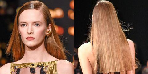 Hair, Hairstyle, Eyebrow, Eyelash, Style, Earrings, Beauty, Long hair, Fashion, Brown hair,