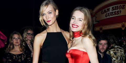 LONDON, ENGLAND - FEBRUARY 24: Karlie Kloss and Natalia Vodianova (R) attends The World's First Fabulous Fund Fair in aid of The Naked Heart Foundation at The Roundhouse on February 24, 2015 in London, England.  (Photo by Samir Hussein/WireImage)
