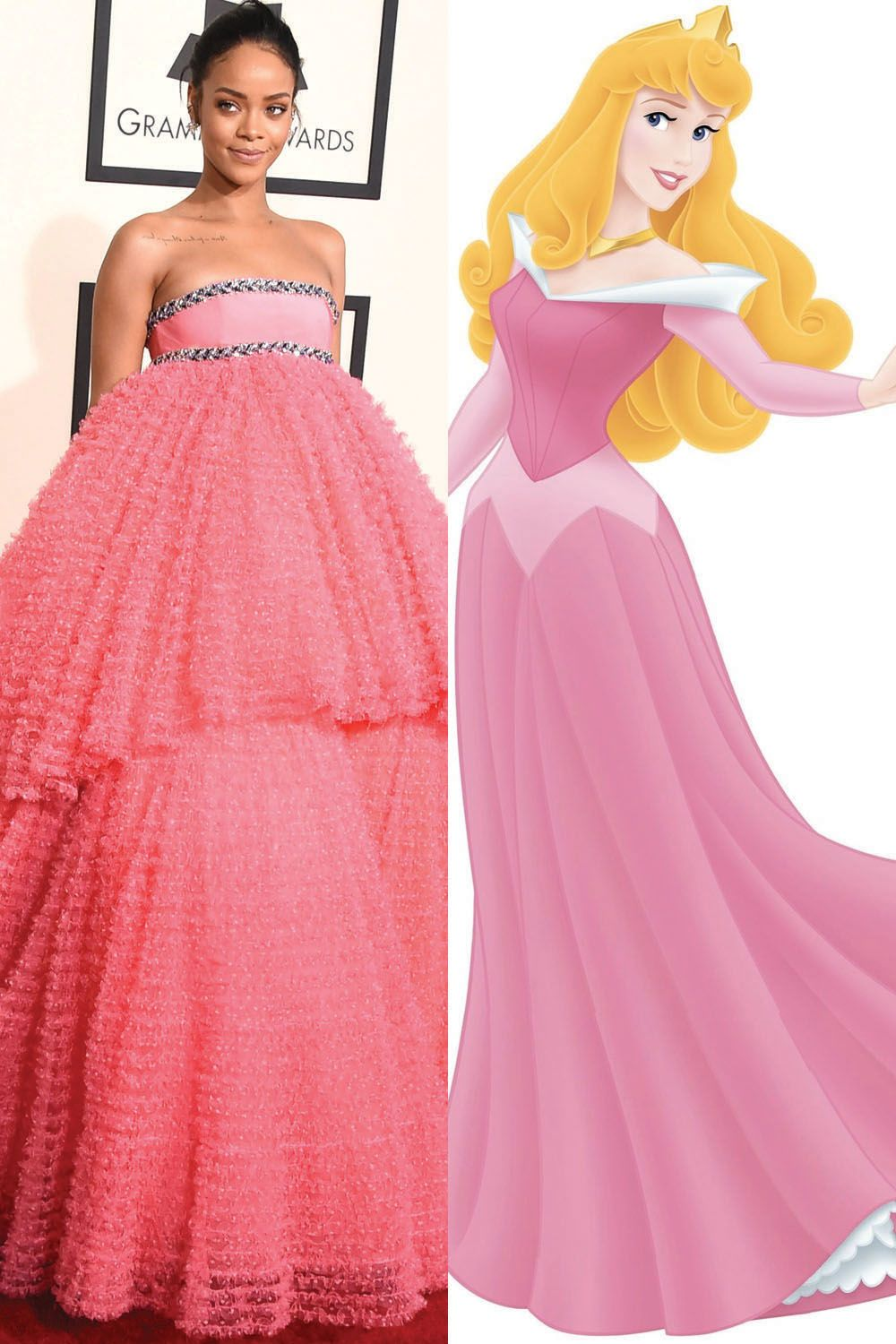 Rihanna in Giambattista Valli as Aurora, <em>Sleeping Beauty. </em>