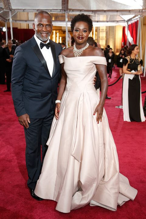 HOLLYWOOD, CA - FEBRUARY 22:  Actress Viola Davis (R) and Julius Tennon attend the 87th Annual Academy Awards at Hollywood & Highland Center on February 22, 2015 in Hollywood, California.  (Photo by Jeff Vespa/WireImage)