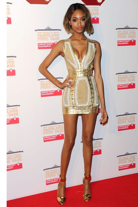 LONDON, ENGLAND - FEBRUARY 24:  Jourdan Dunn attends The World's First Fabulous Fund Fair in aid of The Naked Heart Foundation at The Roundhouse on February 24, 2015 in London, England.  (Photo by Stuart C. Wilson/Getty Images)