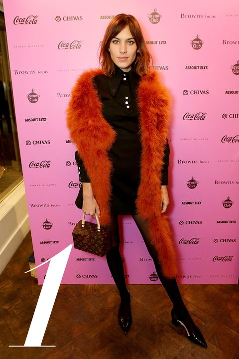 LONDON, ENGLAND - FEBRUARY 21:  Alexa Chung attends as Browns Focus & Coca-Cola host an exclusive London Fashion week Party to celebrate hot new design talent Ashley Williams on February 21, 2015 in London, England.  (Photo by David M. Benett/Getty Images for Browns Focus)