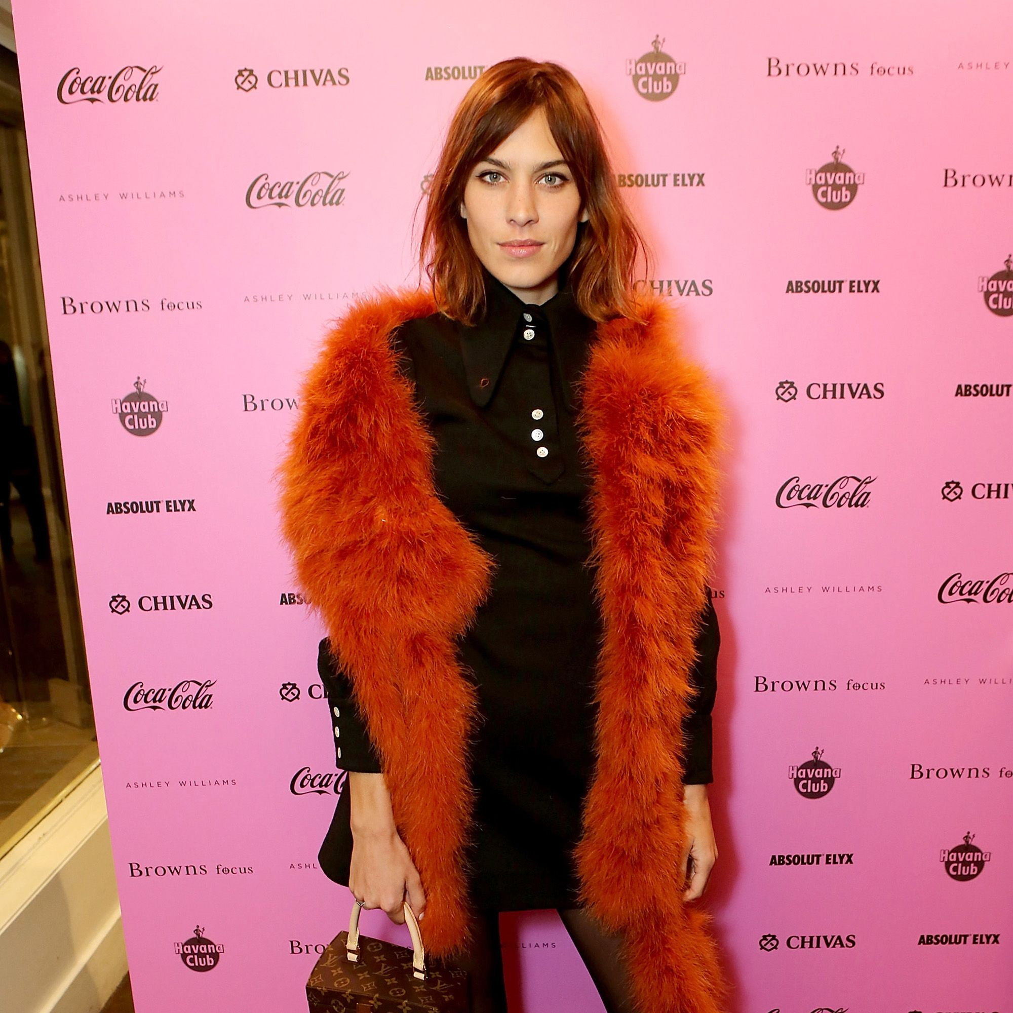 LONDON, ENGLAND - FEBRUARY 21:  Alexa Chung attends as Browns Focus &amp&#x3B; Coca-Cola host an exclusive London Fashion week Party to celebrate hot new design talent Ashley Williams on February 21, 2015 in London, England.  (Photo by David M. Benett/Getty Images for Browns Focus)