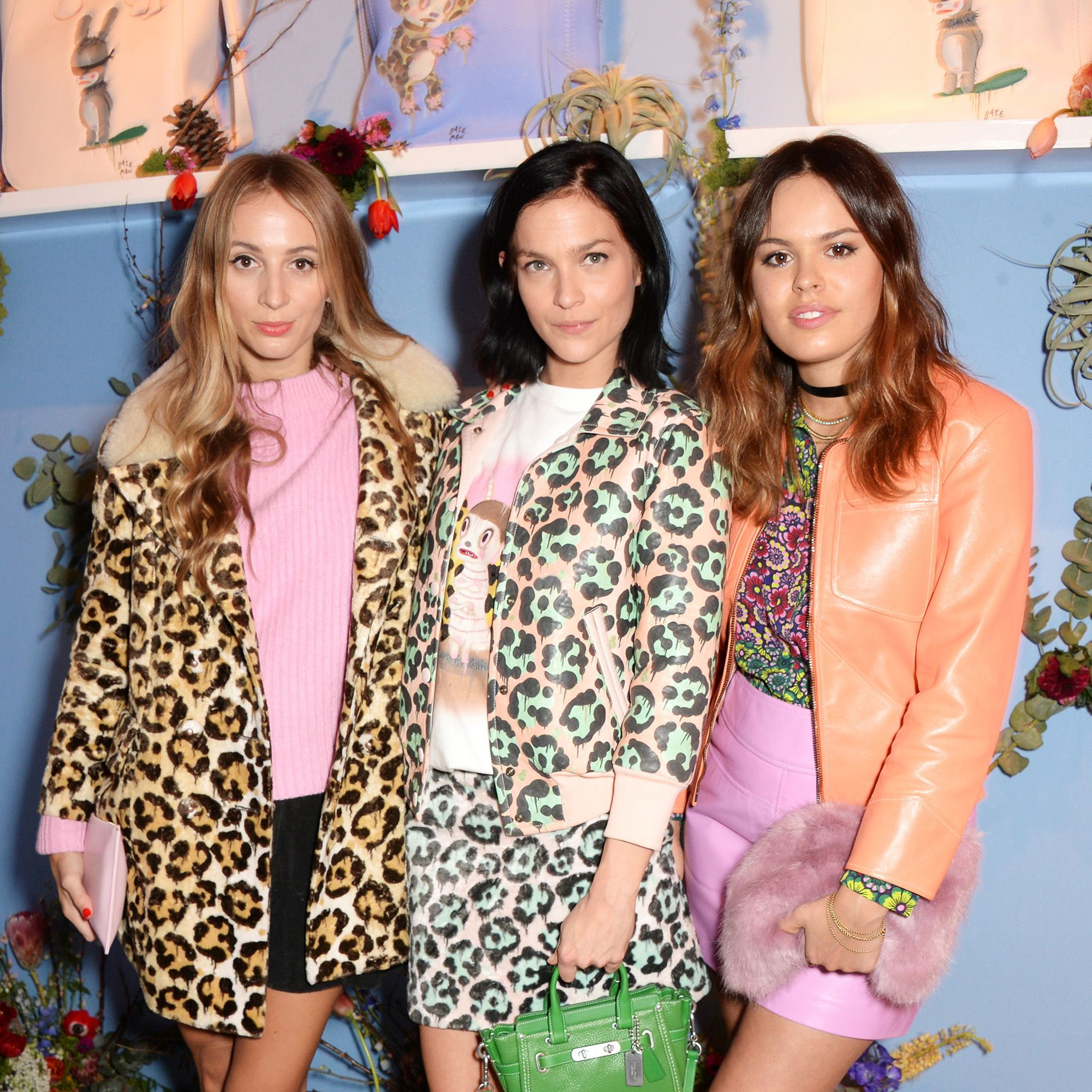 LONDON, ENGLAND - FEBRUARY 21:  (L to R) Harley Viera Newton, Leigh Lezark and Atlanta de Cadenet Taylor attend the Coach X Serpentine The Future Contemporaries Party at The Serpentine Sackler Gallery on February 21, 2015 in London, England.  (Photo by David M. Benett/Getty Images for Coach)