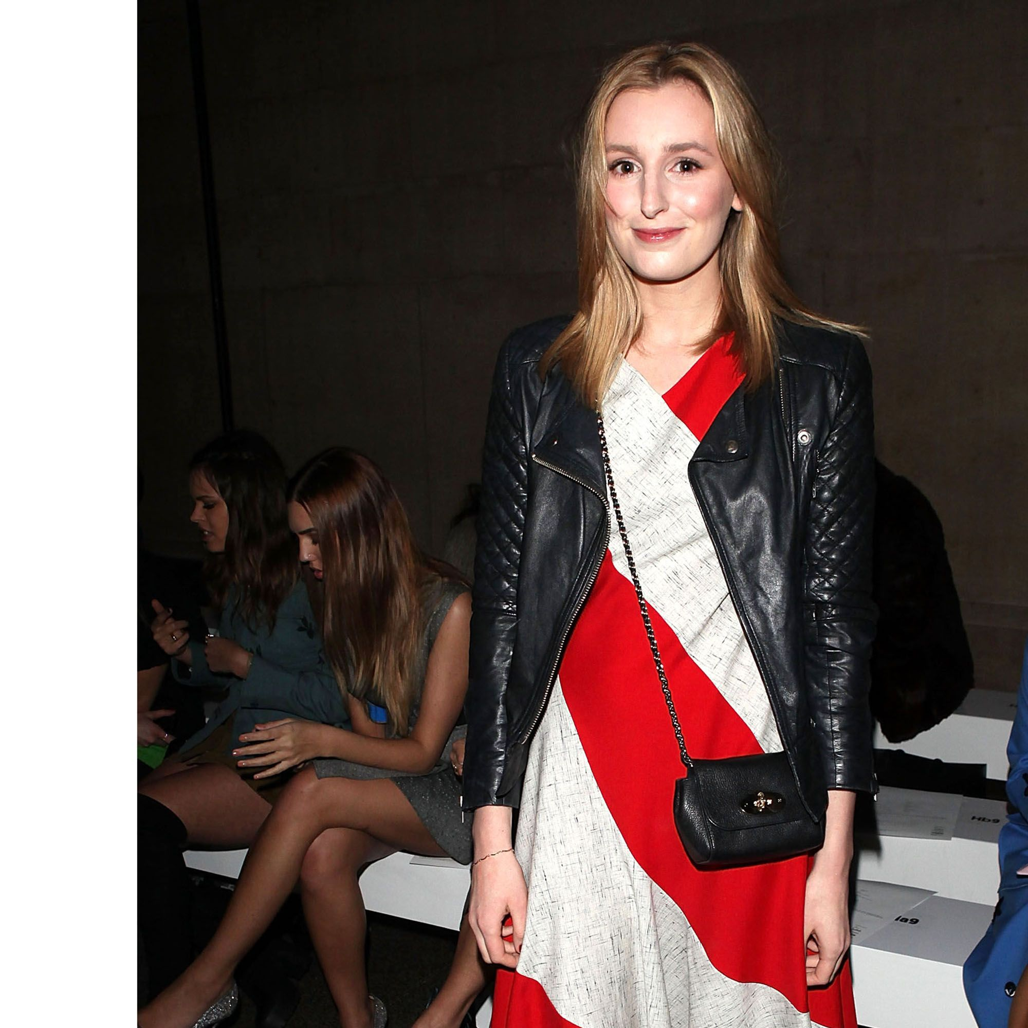 LONDON, ENGLAND - FEBRUARY 22:  Laura Carmichael attends the Jonathan Saunders show during London Fashion Week Fall/Winter 2015/16 at TopShop Show Space on February 22, 2015 in London, England.  (Photo by David M. Benett/Getty Images)