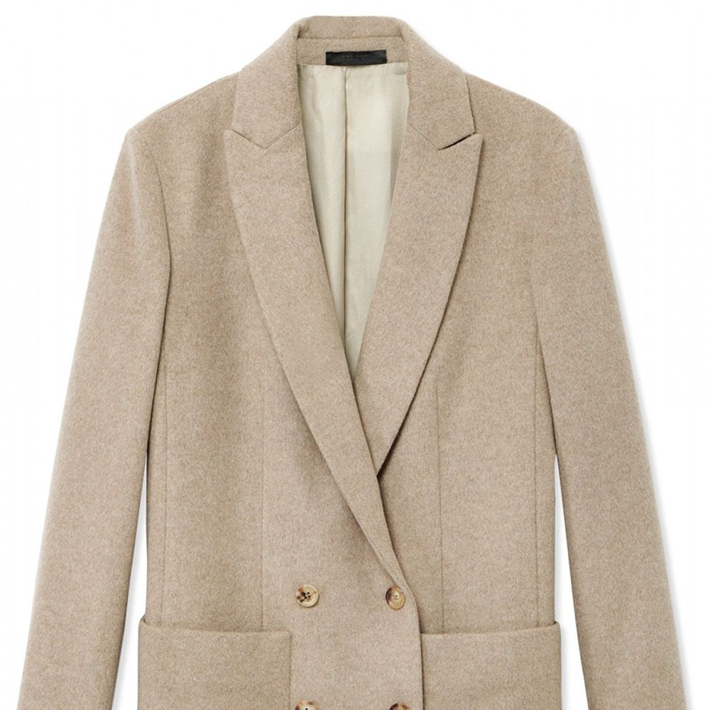 "<strong>The Row</strong> blazer, $2,590, <a href=""http://shop.harpersbazaar.com/designers/the-row/maguire-viscose-shantung-jacket/"">shopBAZAAR.com.</a>"
