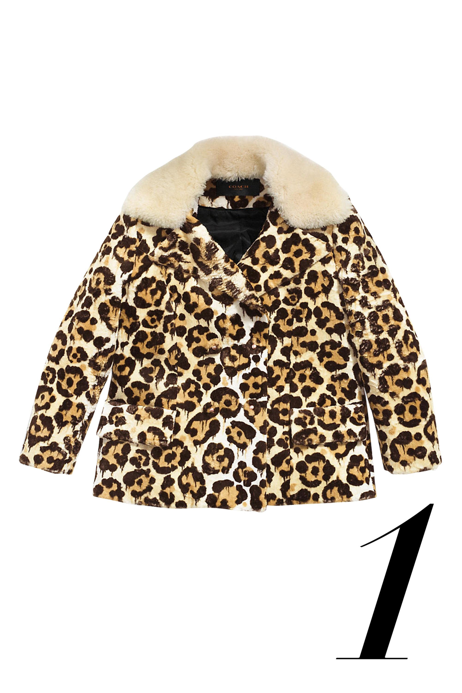 """<em>Coach jacket, $995, <a href=""""http://www.coach.com/coach-designer-vest-wild-beast-short-peacoat/85772.html?dwvar_color=NEU&cgid=women-clothing"""">coach.com.</a></em>"""