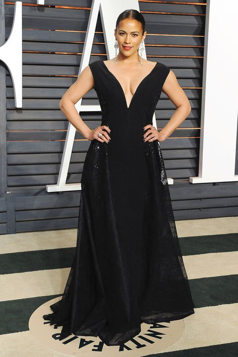 BEVERLY HILLS, CA - FEBRUARY 22:  Actress Paula Patton arrives at the 2015 Vanity Fair Oscar Party Hosted By Graydon Carter at Wallis Annenberg Center for the Performing Arts on February 22, 2015 in Beverly Hills, California.  (Photo by Jon Kopaloff/FilmMagic)