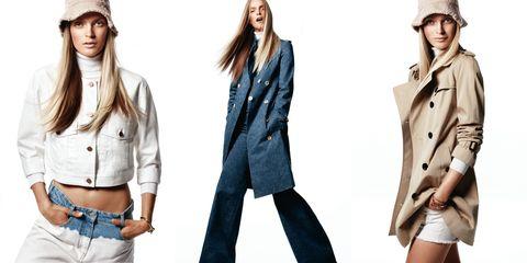 Clothing, Sleeve, Collar, Denim, Textile, Standing, Style, Waist, Coat, Blazer,