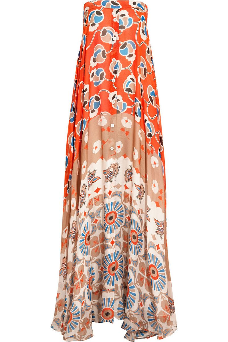 "<strong>Paul & Joe</strong> dress, $1,125, <a href=""http://www.net-a-porter.com/product/542733/Paul_and_Joe/infini-printed-silk-chiffon-maxi-dress"" target=""_blank"">netaporter.com</a>."