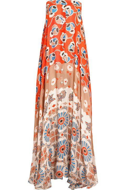 "<strong>Paul &amp; Joe</strong> dress, $1,125, <a href=""http://www.net-a-porter.com/product/542733/Paul_and_Joe/infini-printed-silk-chiffon-maxi-dress"" target=""_blank"">netaporter.com</a>."