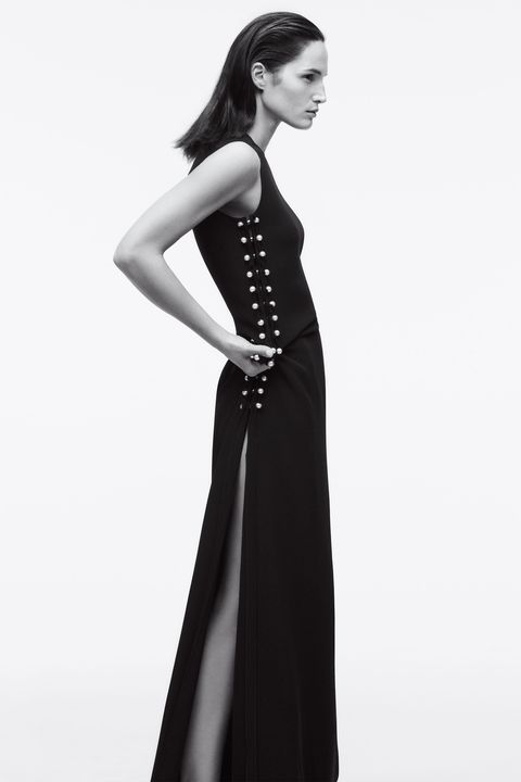 Black streamlined with sexy details is always in style.&nbsp;  <strong>Lanvin</strong> dress, $4,680, 646-439-0380.