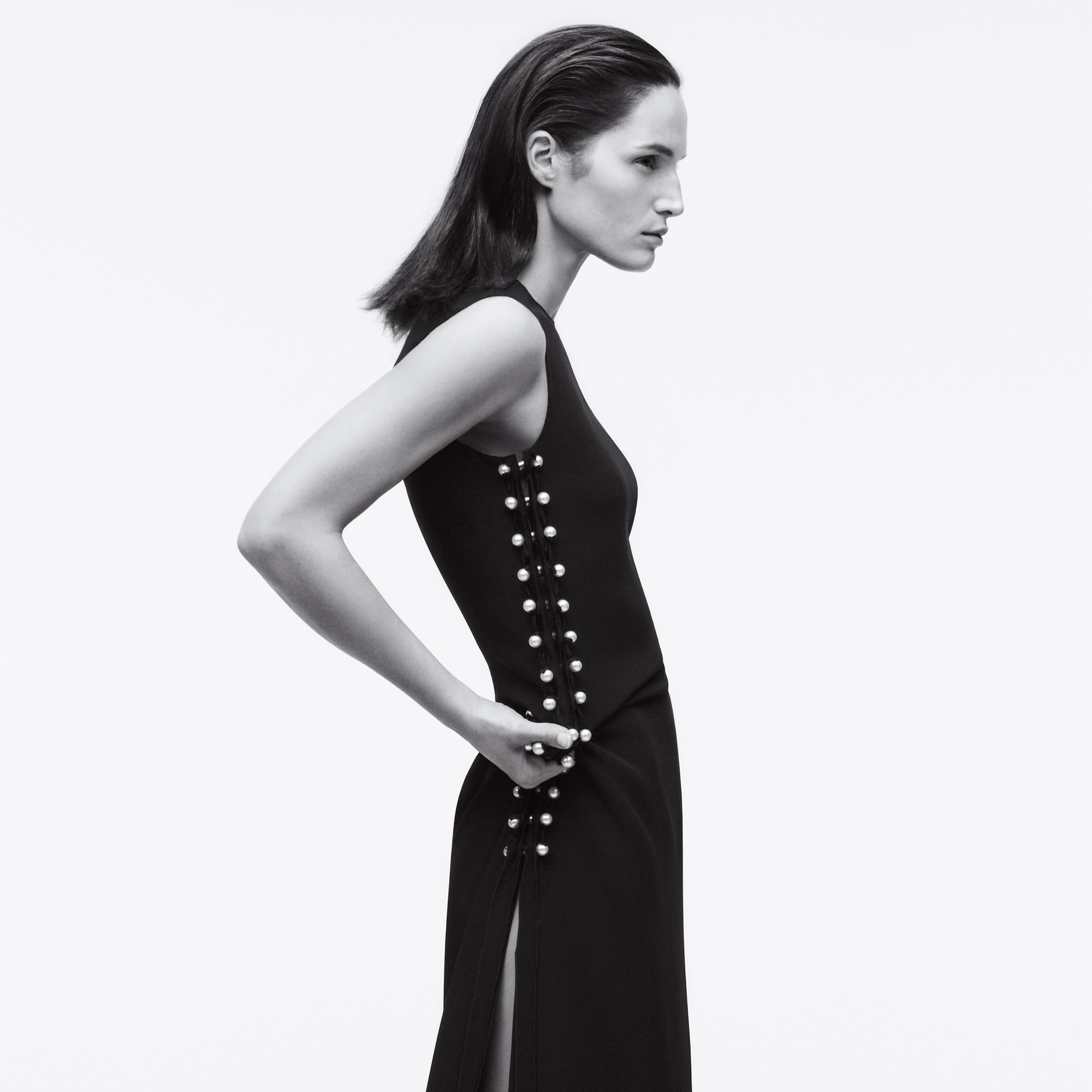 Black streamlined with sexy details is always in style.&nbsp&#x3B;<strong>Lanvin</strong> dress, $4,680, 646-439-0380.