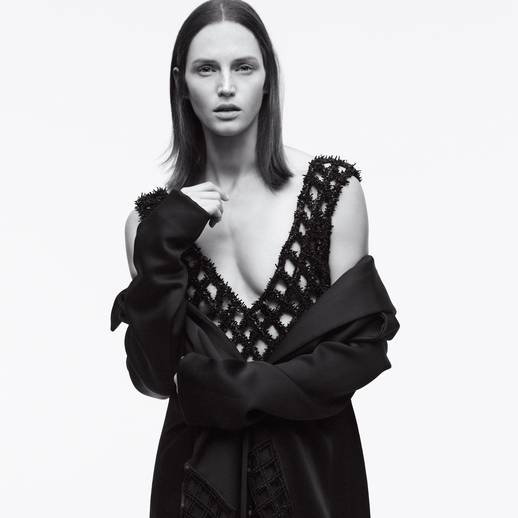 <strong>Balenciaga</strong> coat, $6,650&nbsp&#x3B; and dress, $39,500, Similar styles available at Balenciaga NYC, 212-206-0872.