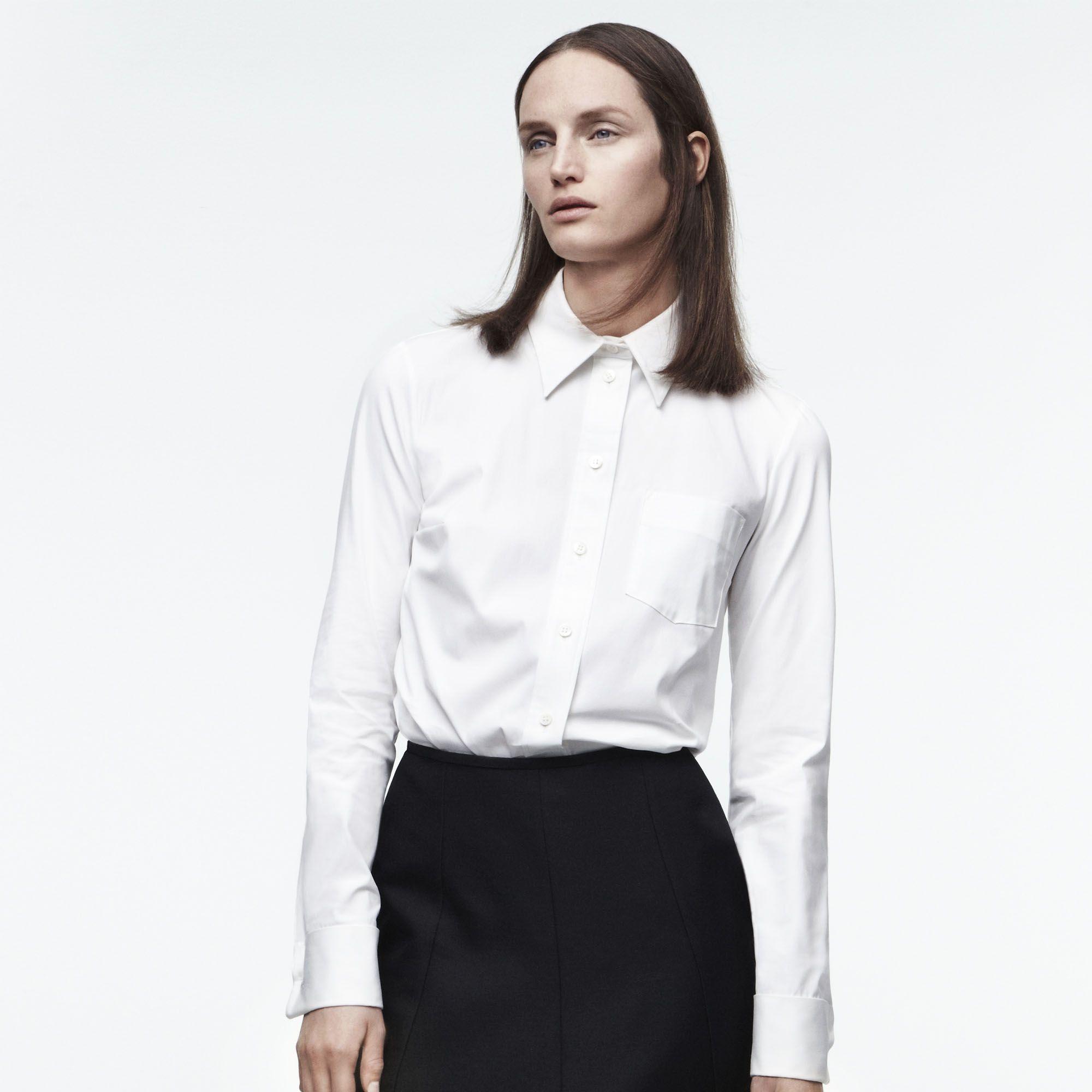 "Your wardrobe refresh starts with the shirt.&nbsp&#x3B;<strong>Michael Kors</strong> <a href=""http://shop.harpersbazaar.com/designers/michael-kors/white-poplin-french-cuff-shirt/"">shirt</a>, $595&nbsp&#x3B; and skirt, $2,650, <a href=""http://shop.harpersbazaar.com/designers/michael-kors/"">shopBAZAAR.com</a><img src=""http://assets.hdmtools.com/images/HBZ/Shop.svg"" class=""icon shop"">.&nbsp&#x3B;"