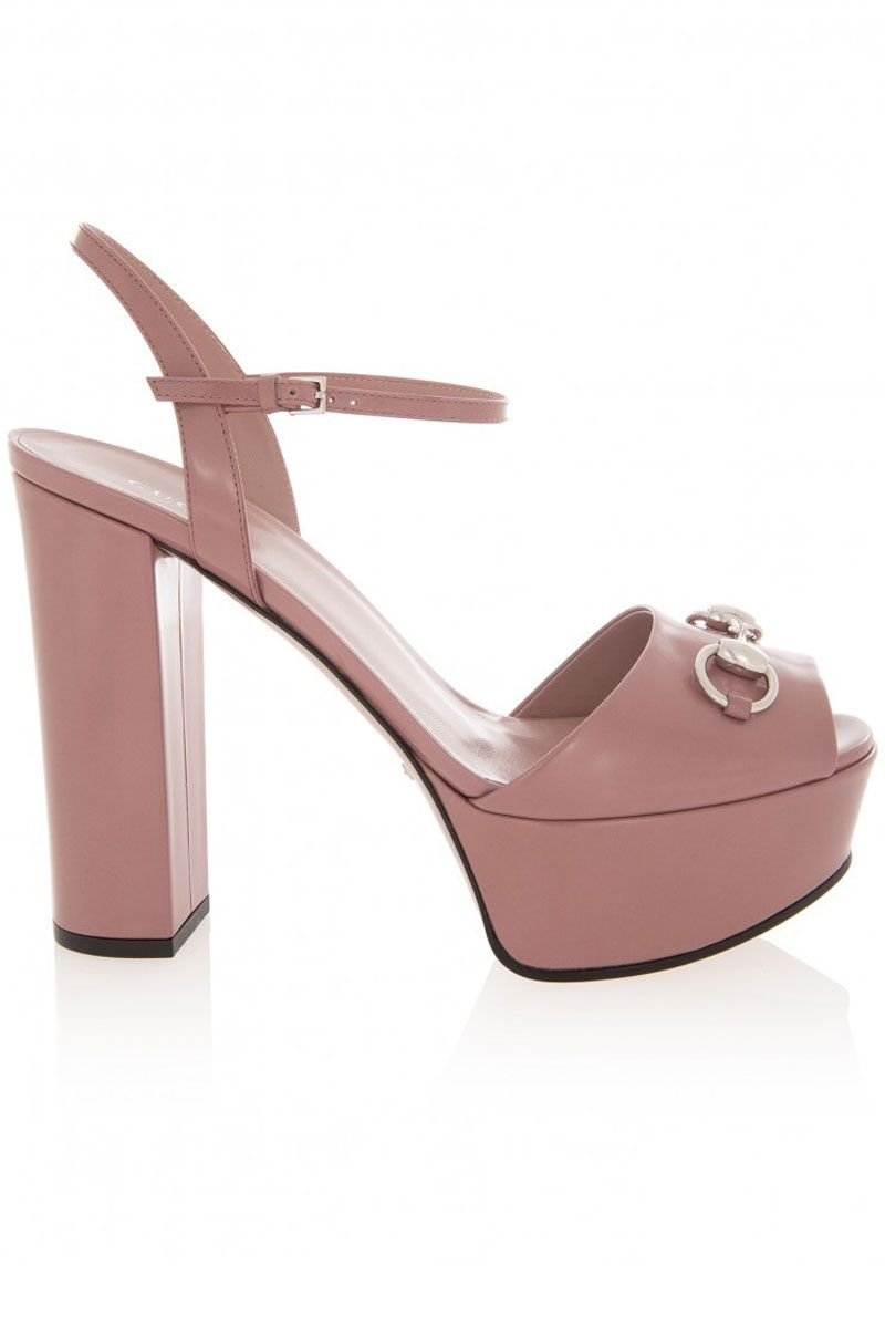 "<strong>Gucci</strong> sandal, $750, <a href=""http://www.gucci.com/us/styles/338961CLG006813#"" target=""_blank"">gucci.com</a>."
