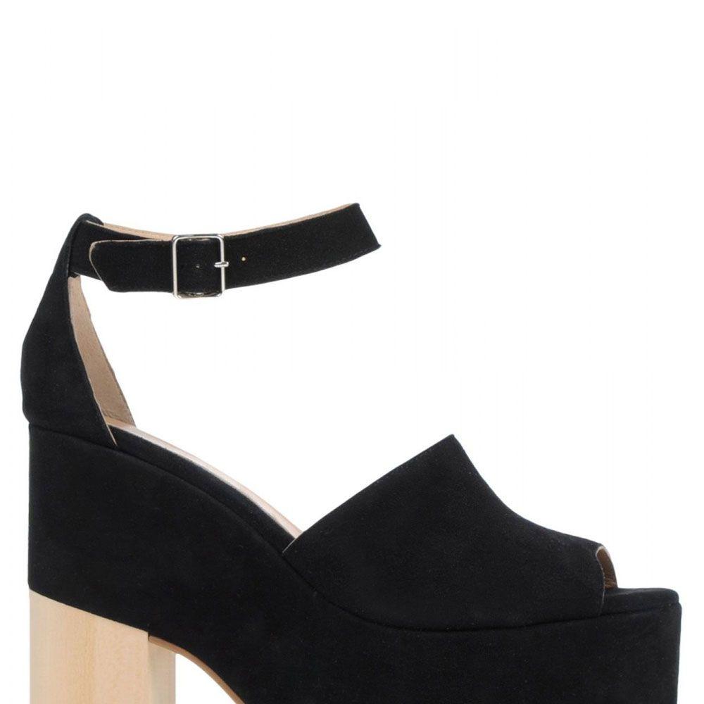 "<strong>Ouigal</strong> sandal, $210, <a href=""http://shop.harpersbazaar.com/designers/ouigal/suede-platform-sandal/"" target=""_blank"">shopBAZAAR.com</a>."