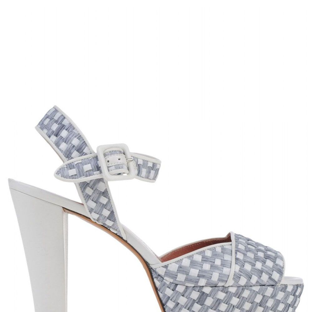 "<strong>Sonia Rykiel</strong> sandal, $700, <a href=""http://shop.harpersbazaar.com/designers/sonia-rykiel/woven-platform-sandal/"" target=""_blank"">shopBAZAAR.com</a>."