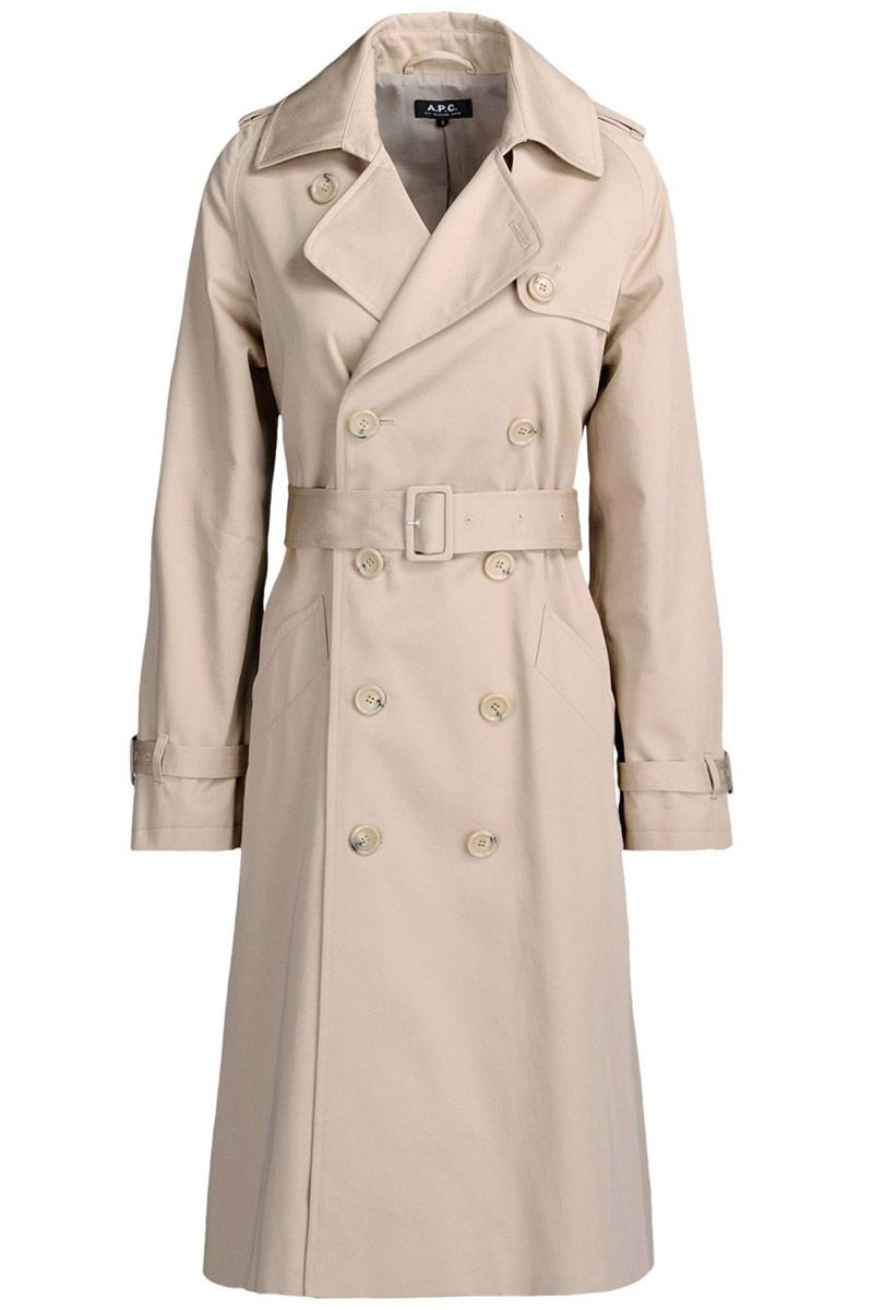"As they say, April showers bring May flowers—don't get caught in a rainstorm without one of these.  <strong>APC </strong>trench coat, $638, <a href=""http://shop.harpersbazaar.com/designers/a-p-c/greta-gabardine-trench-coat/"">shopBAZAAR.com</a>."