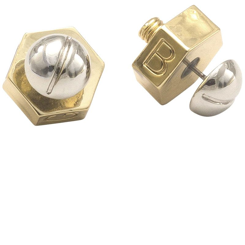 "<strong>Giles &amp&#x3B; Brother</strong> earrings, $95, <a href=""http://shop.harpersbazaar.com/designers/giles-brother/nut-bolt-stud-earrings/"" target=""_blank"">shopBAZAAR.com</a>.&nbsp&#x3B;"