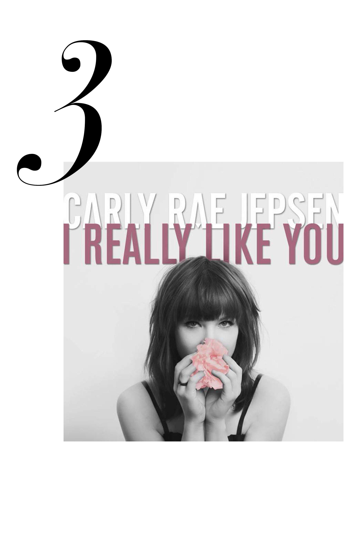 """I Really Like You""  <a href=""http://open.spotify.com/track/3O09PoBmmhotSUxLZfcRP0"">Listen here</a>."
