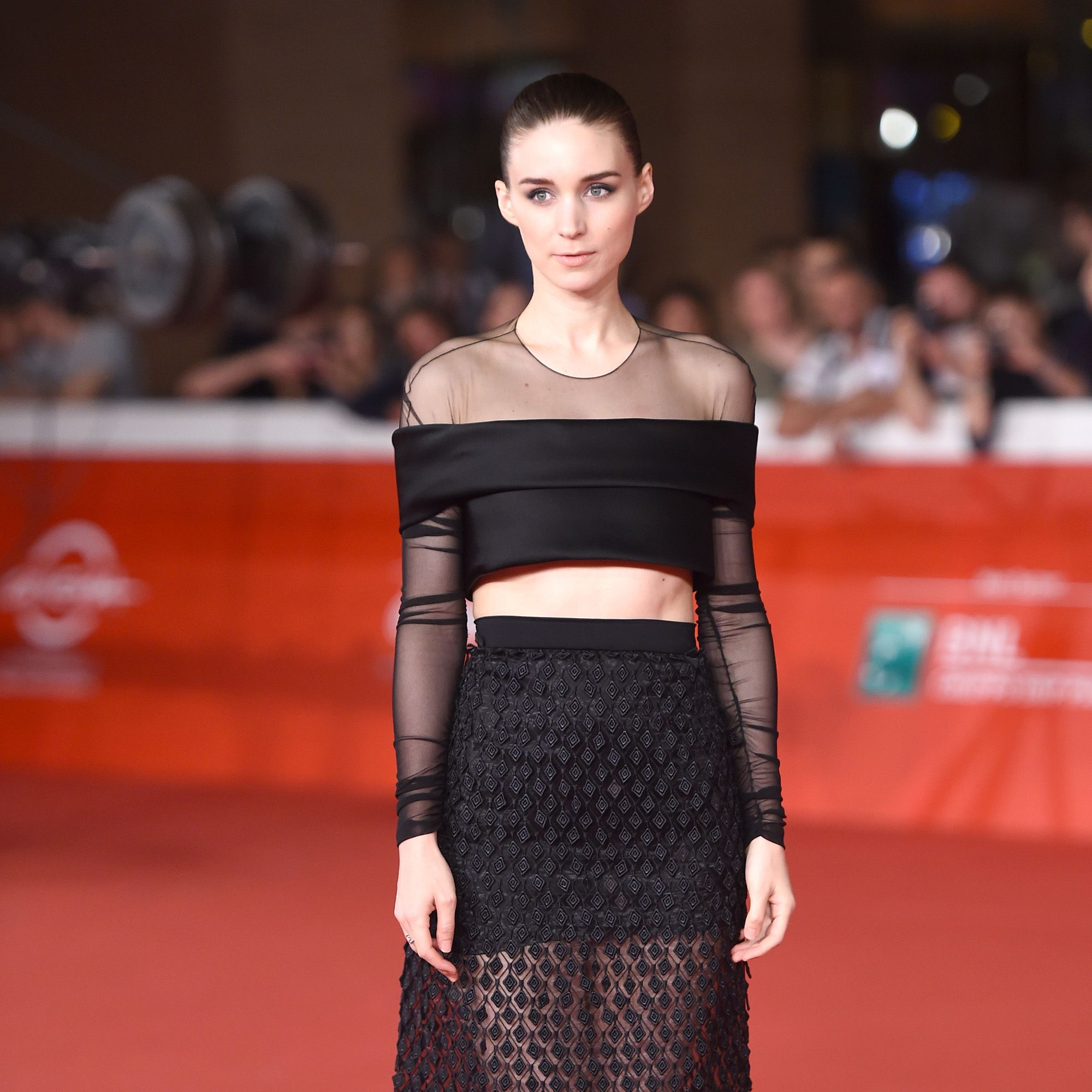 Actress Rooney Mara is the perfect model for Balenciaga's new creative director, Alexander Wang, to show off his designs.