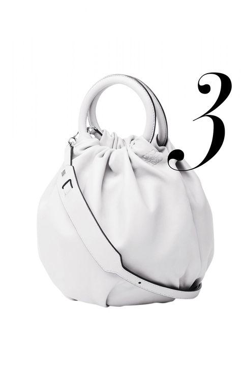 "<p><em>Loewe bag, $1,950, <a href=""http://shop.harpersbazaar.com/designers/loewe/white-nappa-bounce-bag/"" target=""_blank"">shopBAZAAR.com</a>.</em></p>"