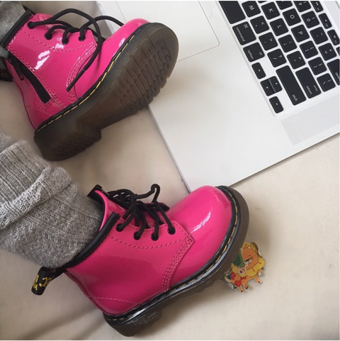 She blogs in her pink Doc Martens. North is extremely Internet savvy. She has to keep up on her press and the current trends of today so that she can best advise her parents on what to wear.