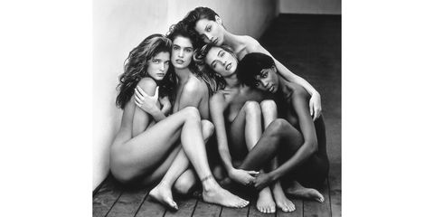 <em>Stephanie, Cindy, Christy, Tatjana, Naomi, Hollywood</em>, 1989