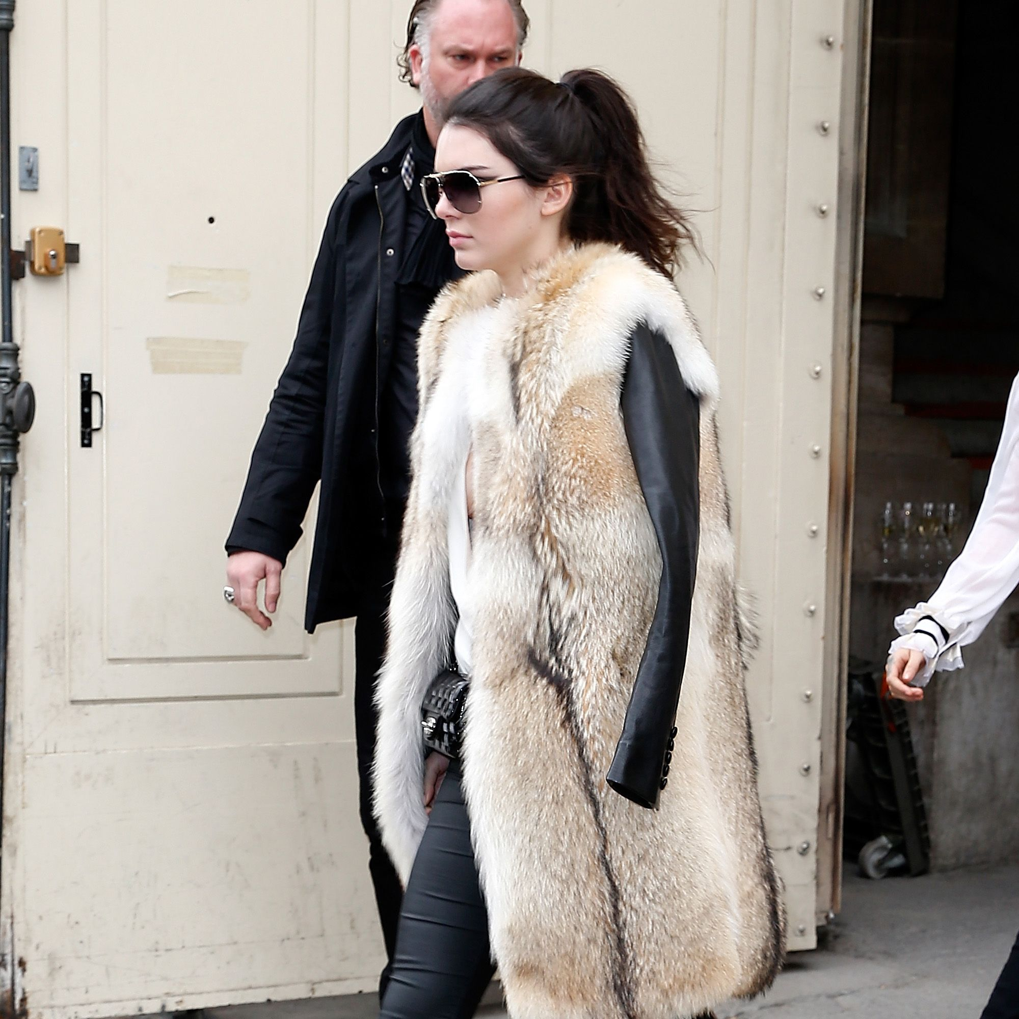 PARIS, FRANCE - MARCH 10:  Kendall Jenner attends the Chanel show as part of the Paris Fashion Week Womenswear Fall/Winter 2015/2016  on March 10, 2015 in Paris, France.  (Photo by Pierre Suu/Getty Images for Chanel)