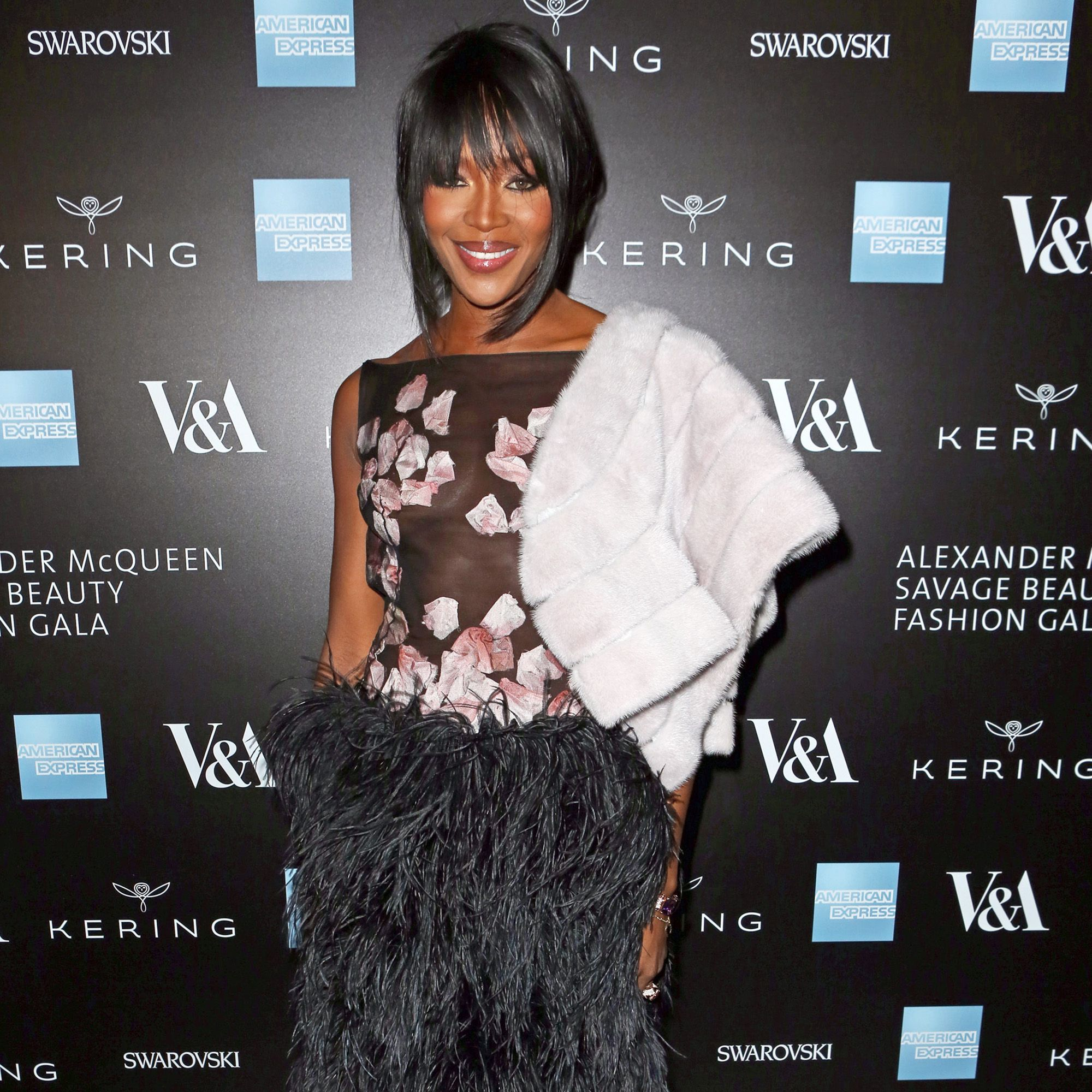 LONDON, ENGLAND - MARCH 12:  Naomi Campbell arrives at the Alexander McQueen: Savage Beauty Fashion Gala at the V&amp&#x3B;A, presented by American Express and Kering on March 12, 2015 in London, England.  (Photo by David M. Benett/Getty Images for Victoria and Albert Museum)