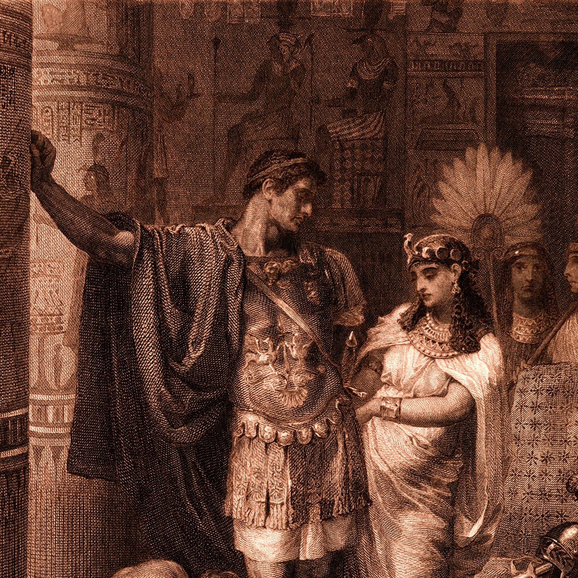 William Shakespeare 's play 'Antony and Cleopatra' (Act III, Scene 11). 'Antony: 'Fall not a tear,  I say&#x3B; one of them rates. All that is won and lost: give me a kiss&#x3B;   Even this repays me.'  Painted by Frank Dicksee, engraved by G. Goldberg. WS:l. English poet and playwright baptised 26 April 1564 – 23 April 1616.  (Photo by Culture Club/Getty Images)