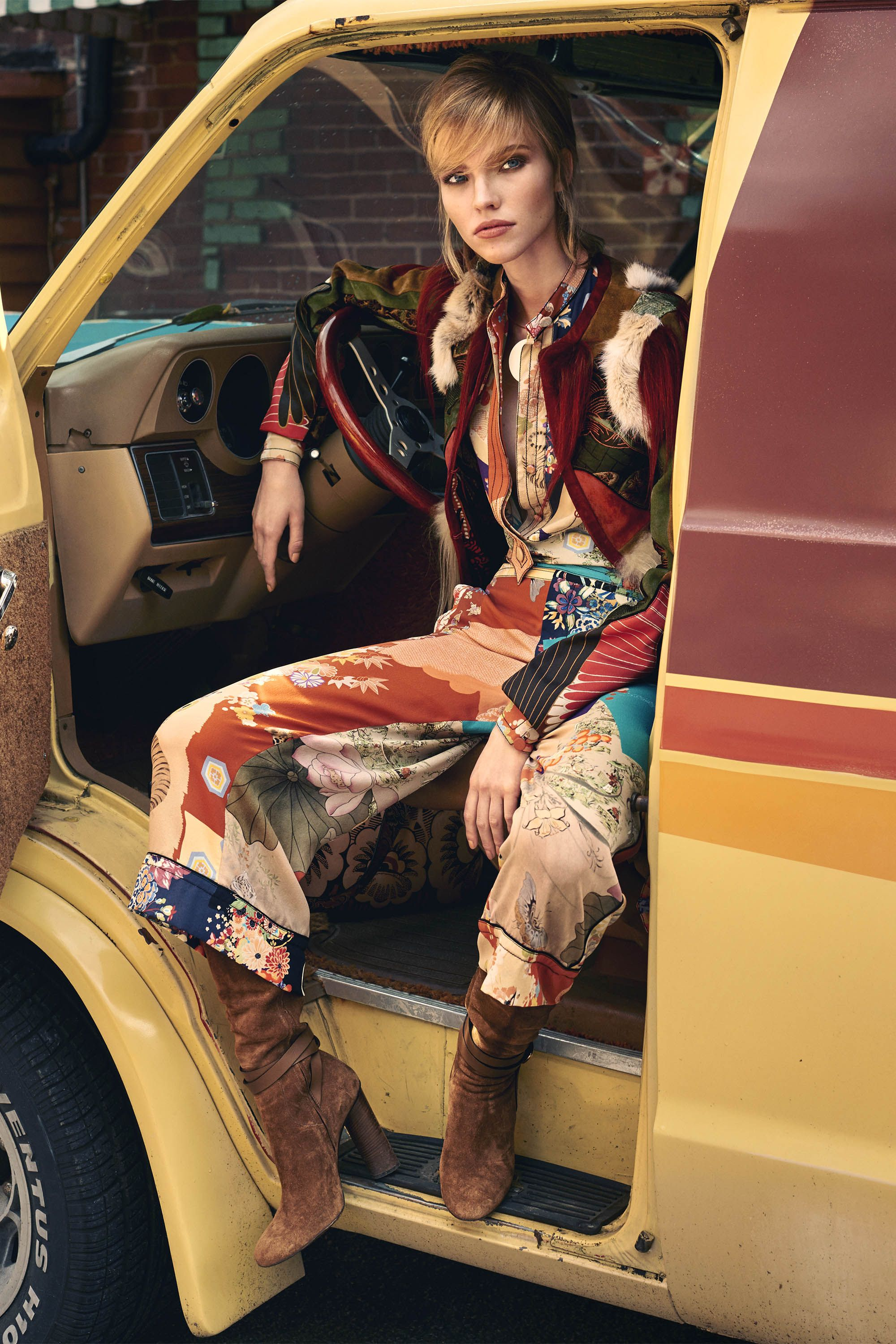 "<strong>Gucci</strong> jacket, $10,500, pants, $1,250, boots, $1,495, blouse and belt, $1,750, <a href=""http://www.gucci.com/us/category/f/women_s_ready_to_wear"">gucci.com</a>; <strong>Jill Heller Jewelry </strong>necklace, $3,300, <a href=""http://shop.harpersbazaar.com/catalogsearch/result/?q=Jill+Heller+Jewelry+"">shopBAZAAR.com</a><img src=""http://assets.hdmtools.com/images/HBZ/Shop.svg"" class=""icon shop"">; <strong>Valentini Garavani </strong>bag, $3,695, 212-772-696."