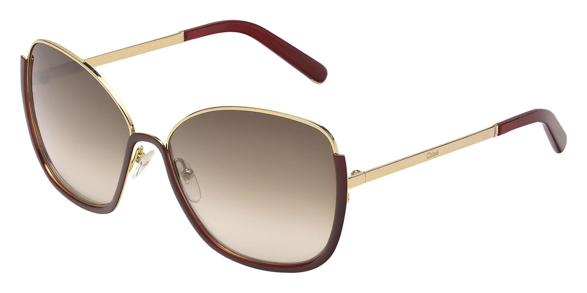 "<strong>Chloe</strong> sunglasses, $346, <a href=""http://marchon.com/HTML/chloe.asp#"">marchon.com</a>."