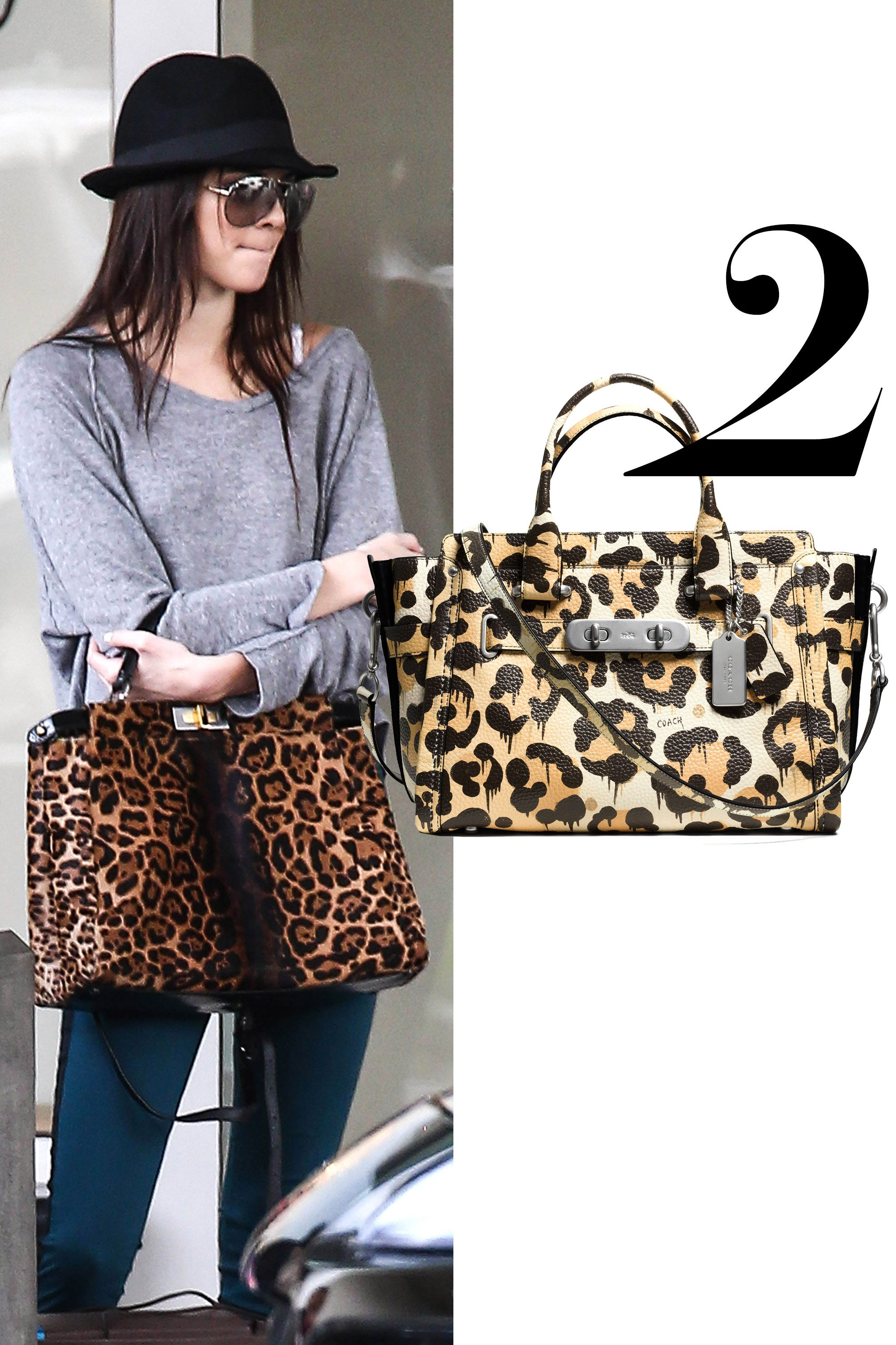 "<em>Coach Swagger bag, $650, <a href=""http://www.coach.com/coach-designer-handbags-coach-swagger-carryall-in-wild-beast-print-pebble-leather/35800.html?cgid=women-handbags-satchels&dwvar_color=WRNAT&cid=D_B_HBZ_8898"">coach.com</a>.</em>"