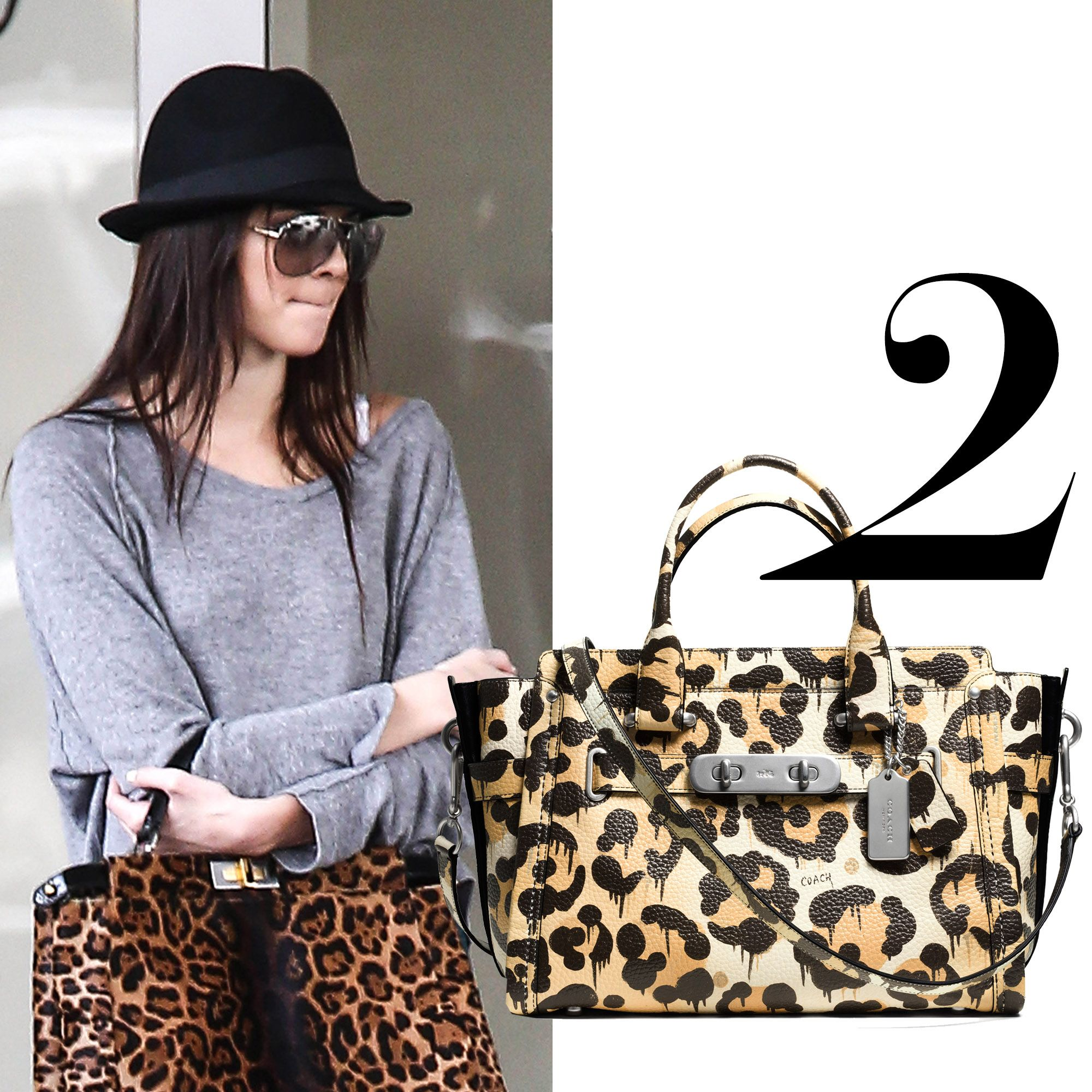 "<em>Coach Swagger bag, $650, <a href=""http://www.coach.com/coach-designer-handbags-coach-swagger-carryall-in-wild-beast-print-pebble-leather/35800.html?cgid=women-handbags-satchels&amp&#x3B;dwvar_color=WRNAT&amp&#x3B;cid=D_B_HBZ_8898"">coach.com</a>.</em>"