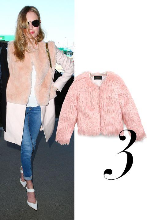 "<em>Coach Fluff jacket, $795, <a href=""http://www.coach.com/coach-designer-vest-fluff-jacket/85783.html?cgid=women-clothing-outerwear&amp;dwvar_color=PIN&amp;cid=D_B_HBZ_8886"">coach.com</a></em>"