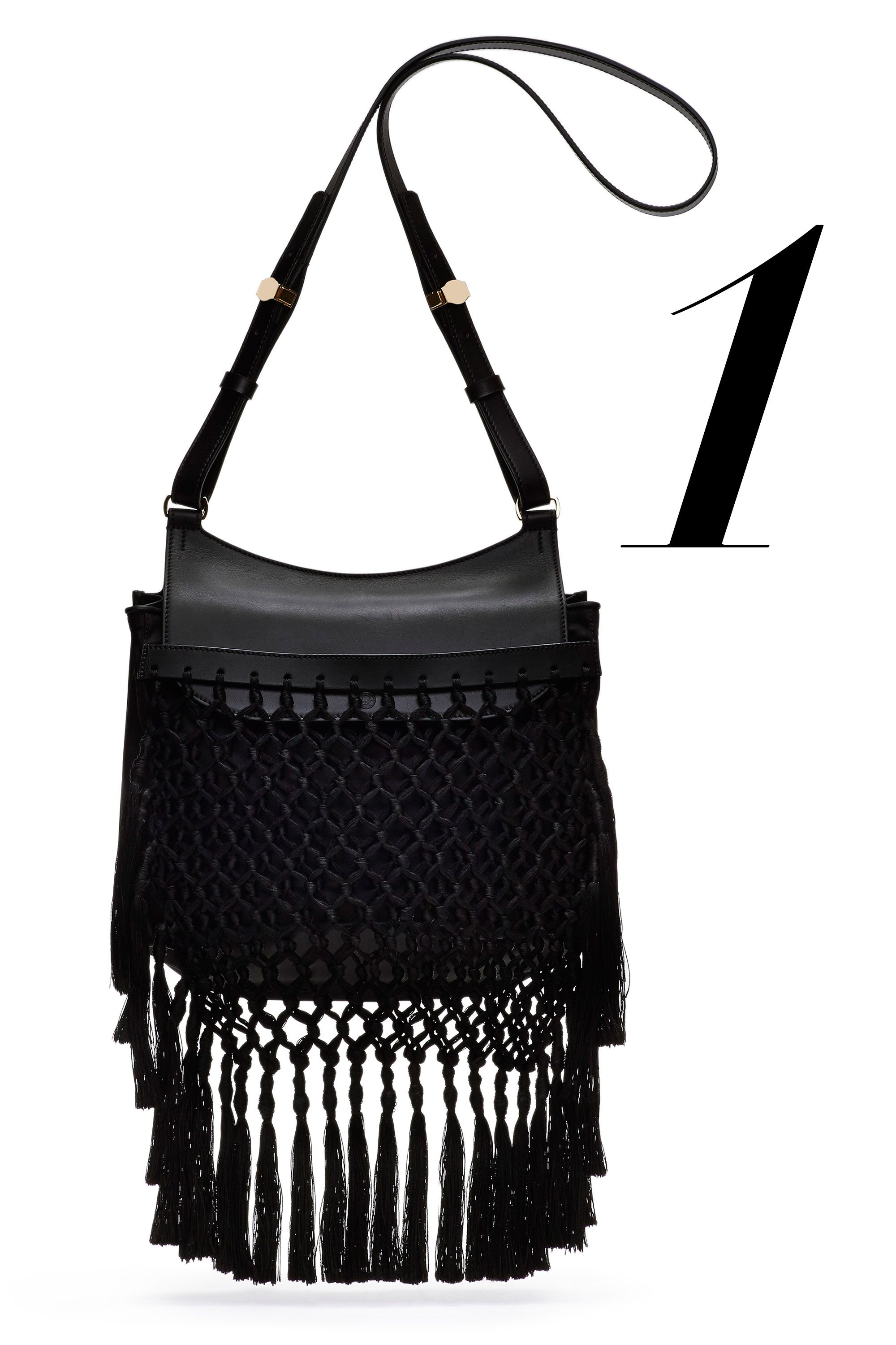 "<em>The Row bag, $6,200, <a href=""http://www.neimanmarcus.com/THE-ROW-Hunting-11-Woven-Shoulder-Bag-Black-the-row/prod176680022___/p.prod?icid=&searchType=MAIN&rte=%252Fsearch.jsp%253FN%253D4294914334%2526_requestid%253D295479%2526Ntt%253Dthe%252Brow&eItemId=prod176680022&cmCat=search"">neimanmarcus.com</a></em>"