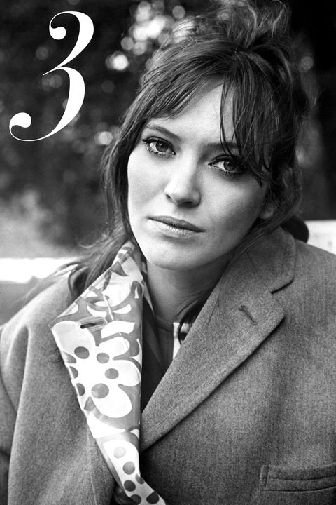 """For me, it doesn't get any better than Anna Karina in '60s Godard movies like <em>Alphaville</em>. Her look is all about natural makeup with a dramatic eye—and bangs, always."" —Christine Whitney, Fashion News/Features Editor"