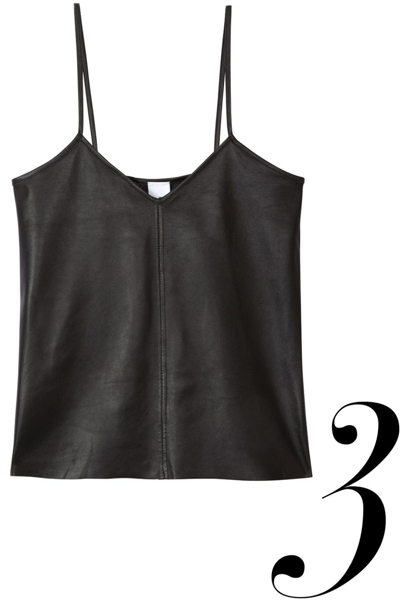 "<em>Iris & Ink top, $255, <a href=""http://www.theoutnet.com/en-US/product/Iris-and-Ink/Ava-leather-top/533919"" target=""_blank"">theoutnet.com</a>.</em>"