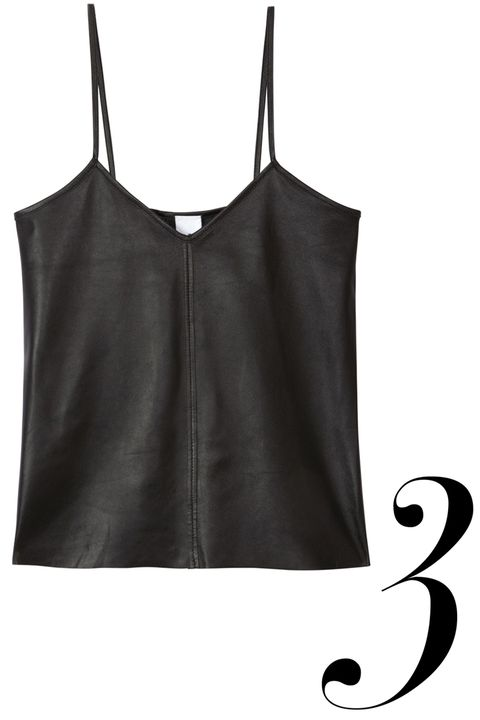 "<em>Iris &amp; Ink top, $255, <a href=""http://www.theoutnet.com/en-US/product/Iris-and-Ink/Ava-leather-top/533919"" target=""_blank"">theoutnet.com</a>.</em>"