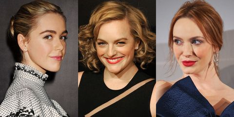 Christina Hendricks, Elisabeth Moss and Kiernan Shipka of Mad Men
