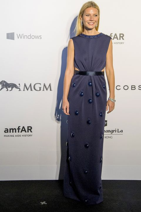 HONG KONG - MARCH 14:  Actress Gwyneth Paltrow arrives on the red carpet during the 2015 amfAR Hong Kong gala at Shaw Studios on March 14, 2015 in Hong Kong.  (Photo by Moses Ng/Getty Images)