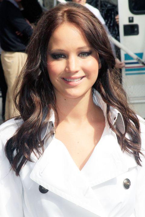 """La actriz Jennifer Lawrence vio llegar al """"Late Show With David Letterman"""" en el teatro Ed Sullivan el 19 de mayo de 2011 en la ciudad de Nueva York."""