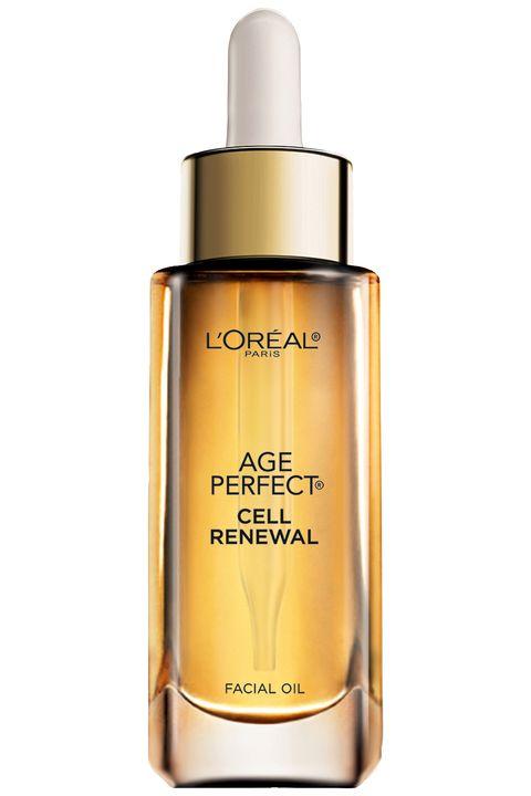 "<strong>L'Oréal</strong> Paris Age Perfect Cell Renewal Facial Oil, $24.99, <a target=""_blank"" href=""http://www.lorealparisusa.com/en/products/skin-care/treatments/age-perfect-cell-renewal-facial-oil-light.aspx"">lorealparisusa.com</a>."